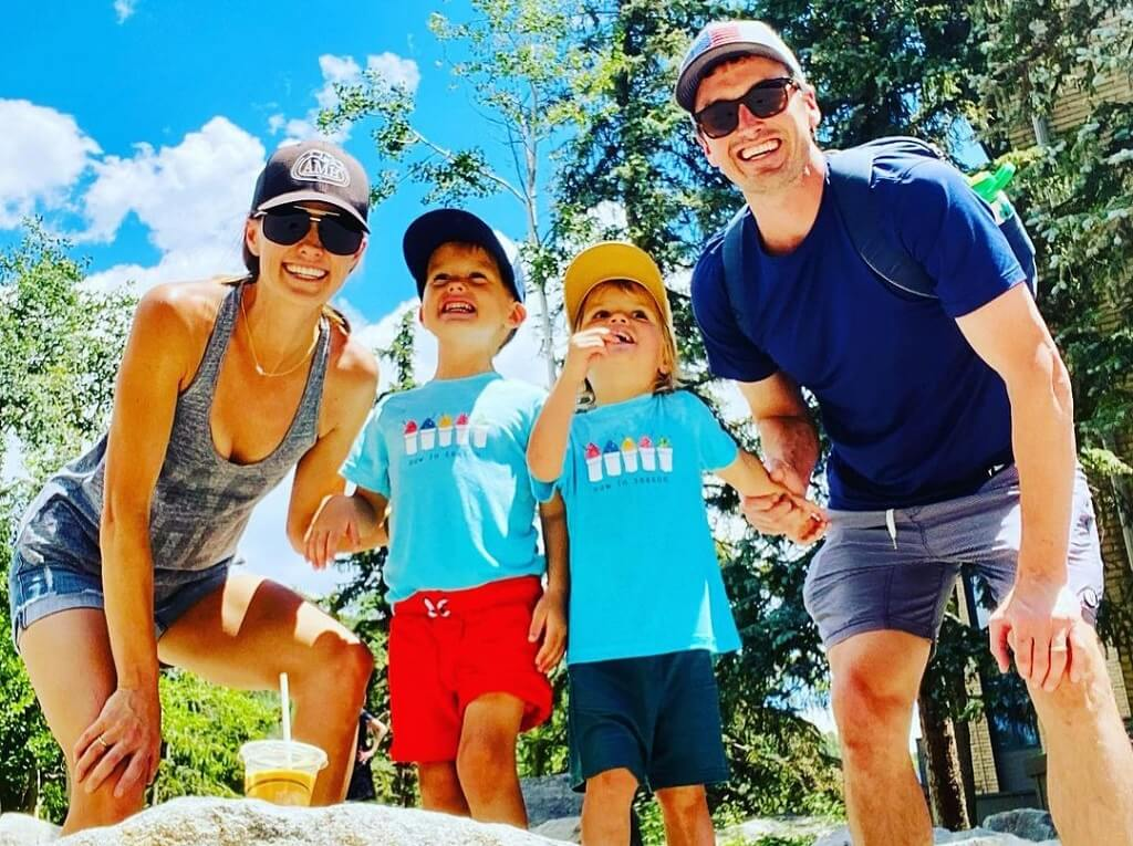 Kayna Whitworth with son and husband