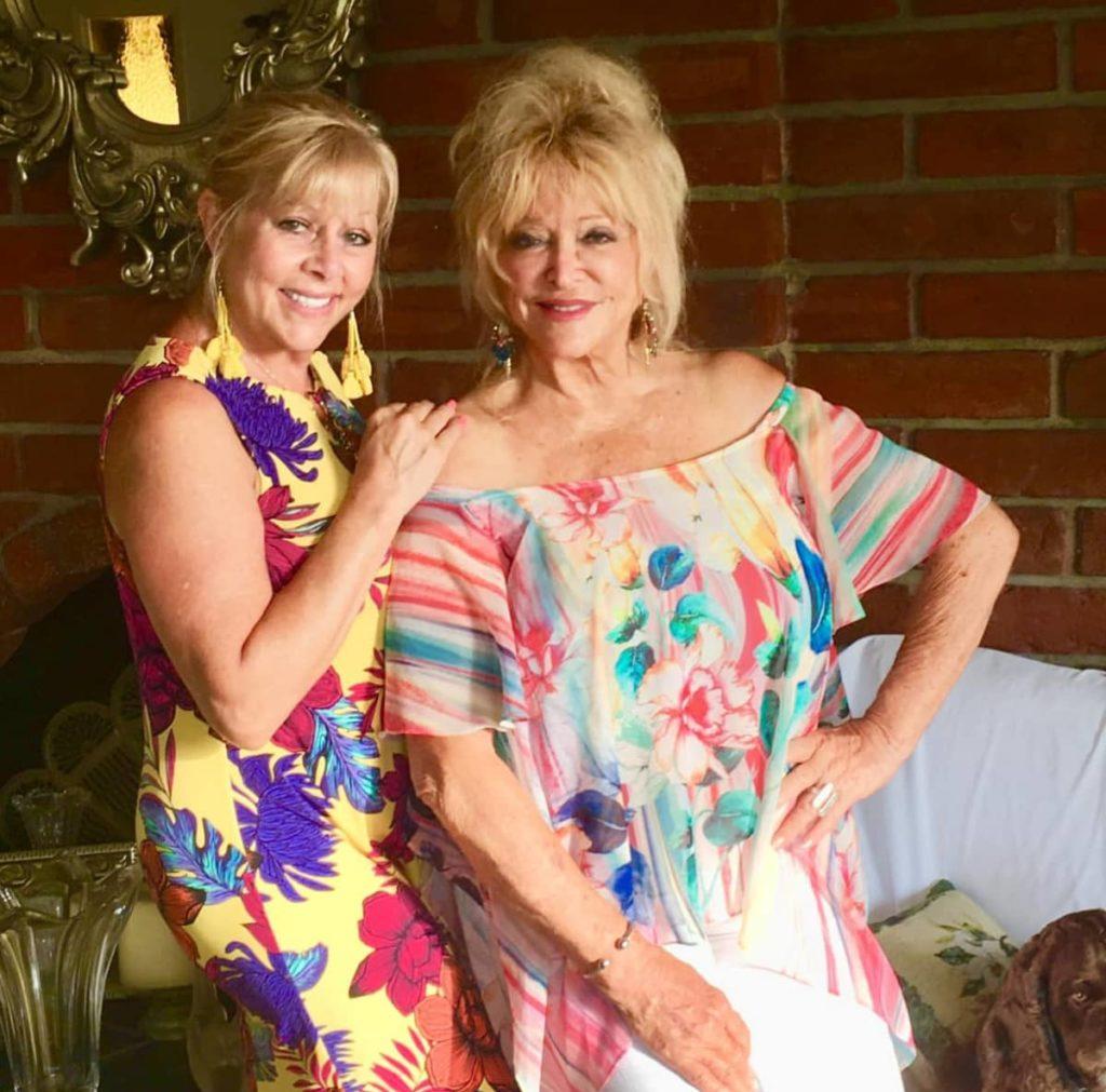 Linda Vaughn with friend