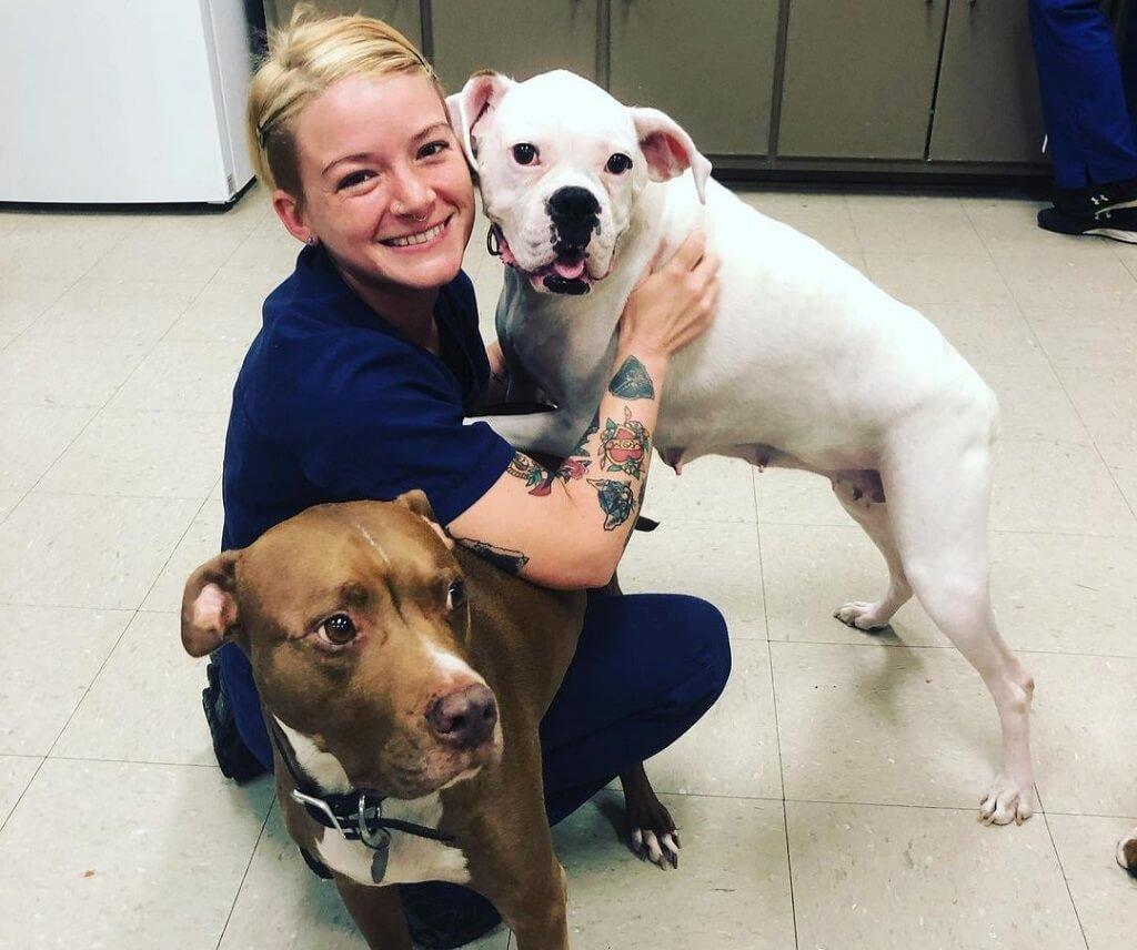 Alicia Morton and dogs